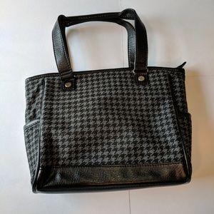 Short handle black and gray purse